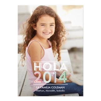 Hola 2 014 nuevas tarjetas fotográficas año invitaciones personalizada