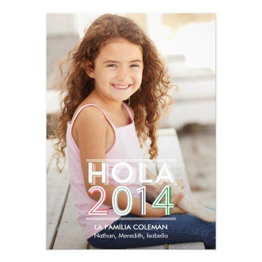 Hola 2.014 nuevas tarjetas fotográficas año invitaciones personalizada