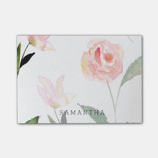 Hola acuarela hermosa floral notas post-it®