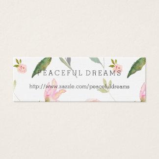 Hola acuarela hermosa floral tarjeta de visita mini