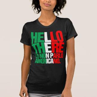 Hola allí no hablo la camiseta americana