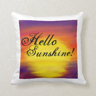 Hola almohada de tiro de la sol