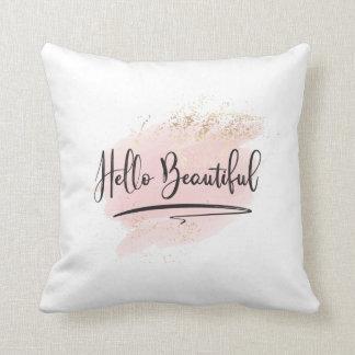 Hola almohada hermosa de la acuarela