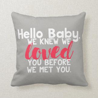 Hola almohada personalizada bebé