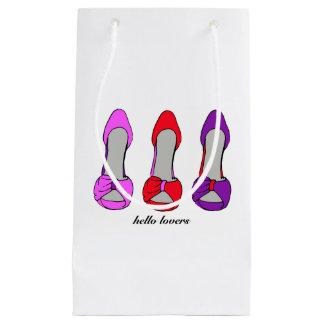 Hola amantes - obsesión del zapato del tacón alto bolsa de regalo pequeña