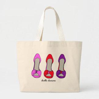 Hola amantes - obsesión del zapato del tacón alto bolsa tela grande