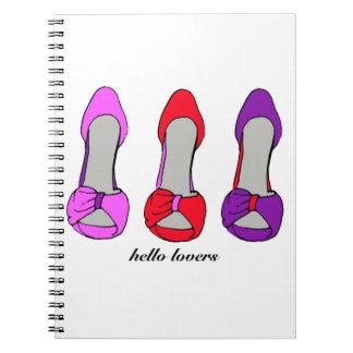 Hola amantes - obsesión del zapato del tacón alto libro de apuntes