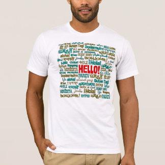 Hola camiseta (de la lengua multi)