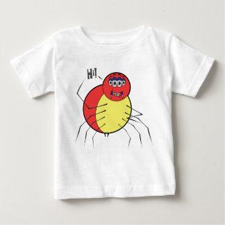 Hola camiseta del jersey de la multa del bebé de