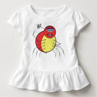 Hola camiseta del volante del niño de Spidey