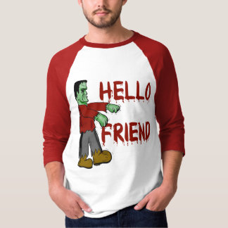 Hola camisetas espeluznantes de Frankenstein del