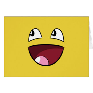 hola cara feliz tarjetas