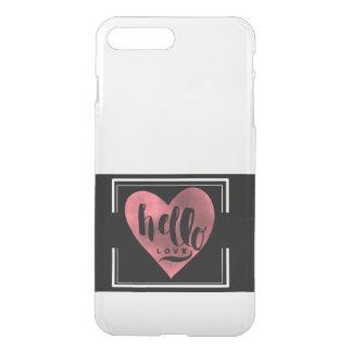 Hola caso claro de IPhone del amor Funda Para iPhone 7 Plus