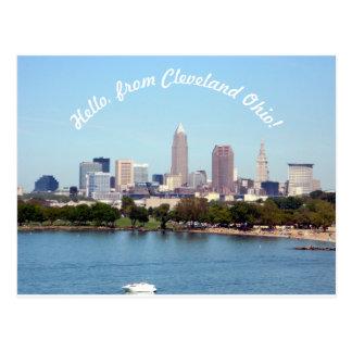Hola de la postal de Cleveland OH