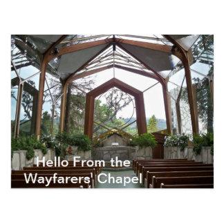 Hola de la postal de la capilla de los caminantes