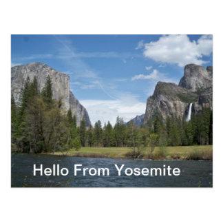 Hola de la postal de Yosemite