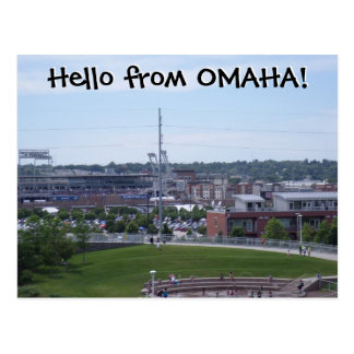 ¡Hola de OMAHA! Postal