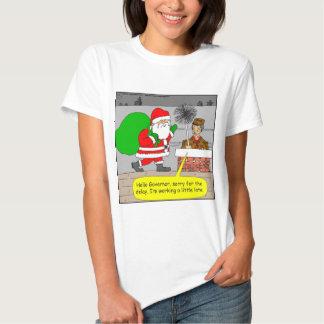 hola dibujo animado de santa del gobernador x76 camiseta