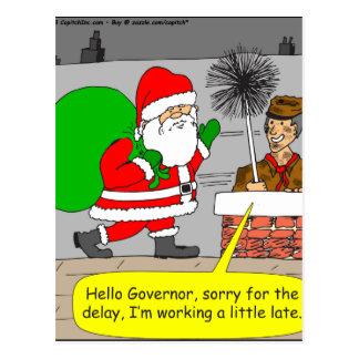 hola dibujo animado de santa del gobernador x76 postal