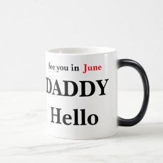 Taza Mágica Hola el embarazo del papá revela la taza de café