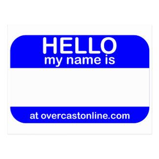 Hola etiqueta postal