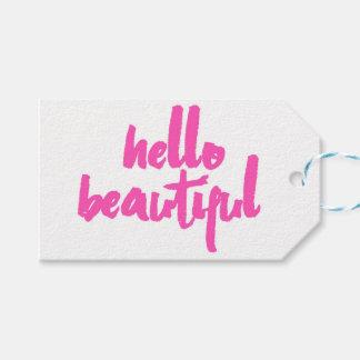 Hola etiquetas hermosas del rosa el | del |