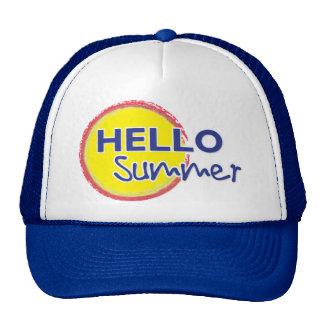 Hola gorra del camionero del verano