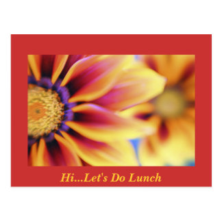 Hola… hagamos el almuerzo postal