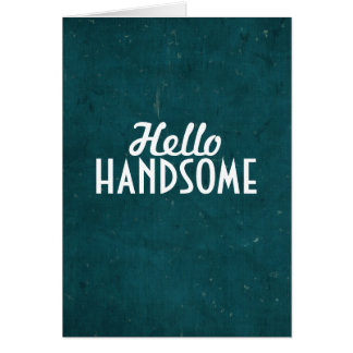 Hola hermoso tarjeta de felicitación