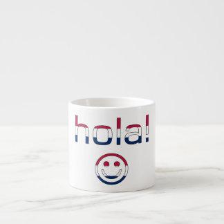 Hola hispanoamericano/Hola de los regalos + Cara s Taza Espresso