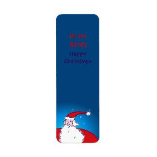 Hola Ho etiquetas felices de las Felices Navidad Etiquetas De Remite