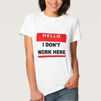 Hola insignia camisetas