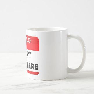 Hola insignia taza básica blanca