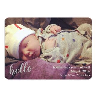 ¡Hola! Invitación del nacimiento