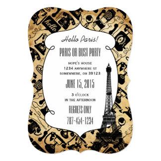 Hola invitaciones de París - del fiesta de París o Invitación