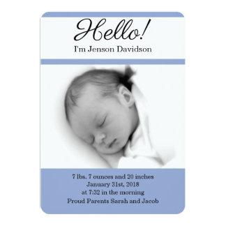 HOLA invitaciones del nacimiento del bebé Invitación 12,7 X 17,8 Cm