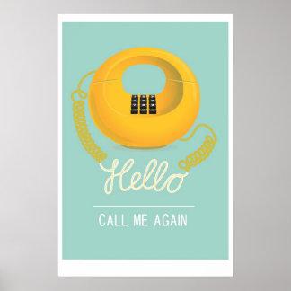 Hola - llámeme otra vez póster