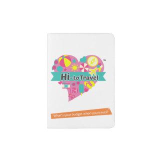Hola-Lo tenedor del pasaporte del viaje - blanco Portapasaportes