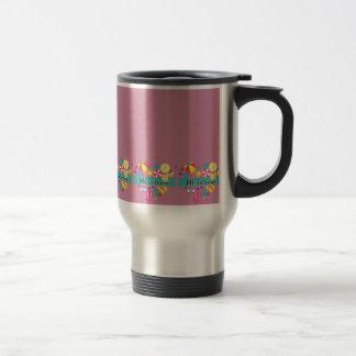 Hola-Lo viaje, taza del viaje - rosa del vintage