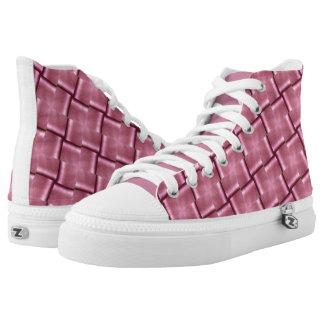 Hola metal del rosa del zapato de la zapatilla de