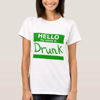 Hola mi nombre es camiseta borracha