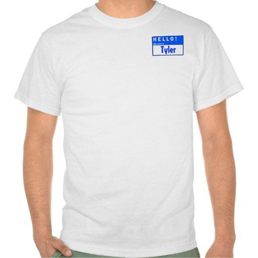 ¡Hola! Mi nombre es… Camiseta de la diversión