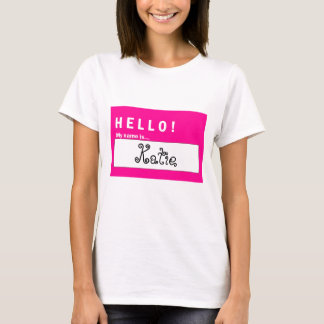 Hola mi nombre es… Camiseta de la diversión