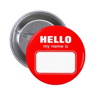 Hola mi nombre es chapa redonda 5 cm