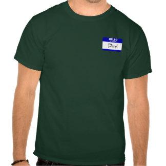 Hola mi nombre es Daryl (azul) Camiseta