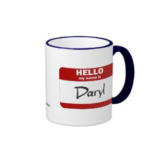Hola mi nombre es Daryl (rojo) Taza De Café