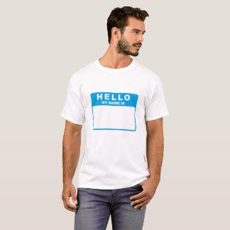 Hola, mi nombre es (el azul) camiseta