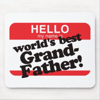 Hola mi nombre es el mejor abuelo del mundo alfombrilla de ratón