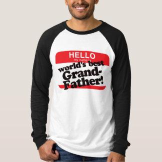 Hola mi nombre es el mejor abuelo del mundo camiseta
