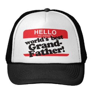 Hola mi nombre es el mejor abuelo del mundo gorras